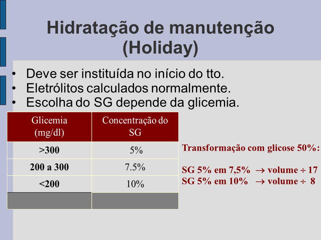 Hidratação de manutenção (Holiday)