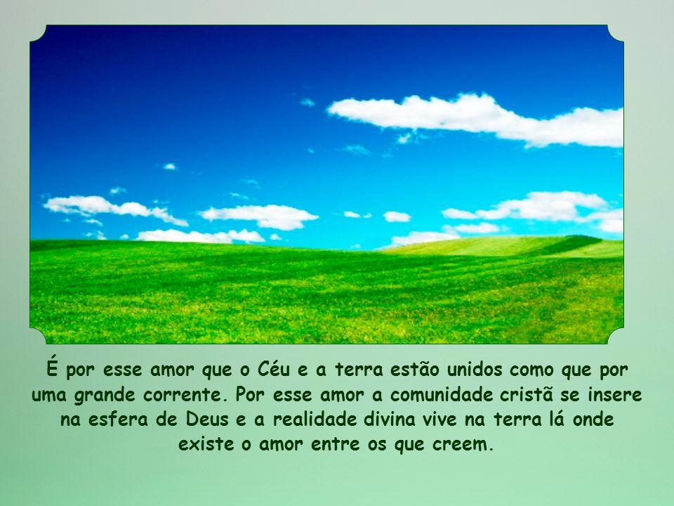 É por esse amor que o Céu e a terra estão unidos como que por uma grande corrente.