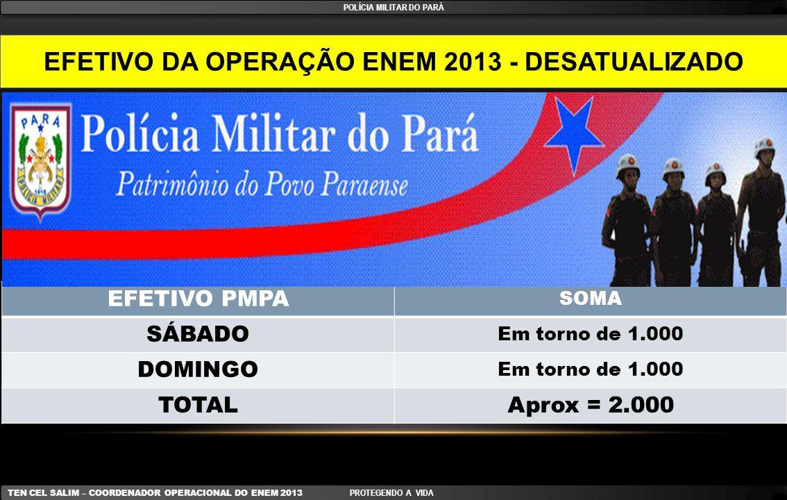 POLÍCIA MILITAR DO PARÁ EFETIVO DA OPERAÇÃO ENEM 2013 - DESATUALIZADO