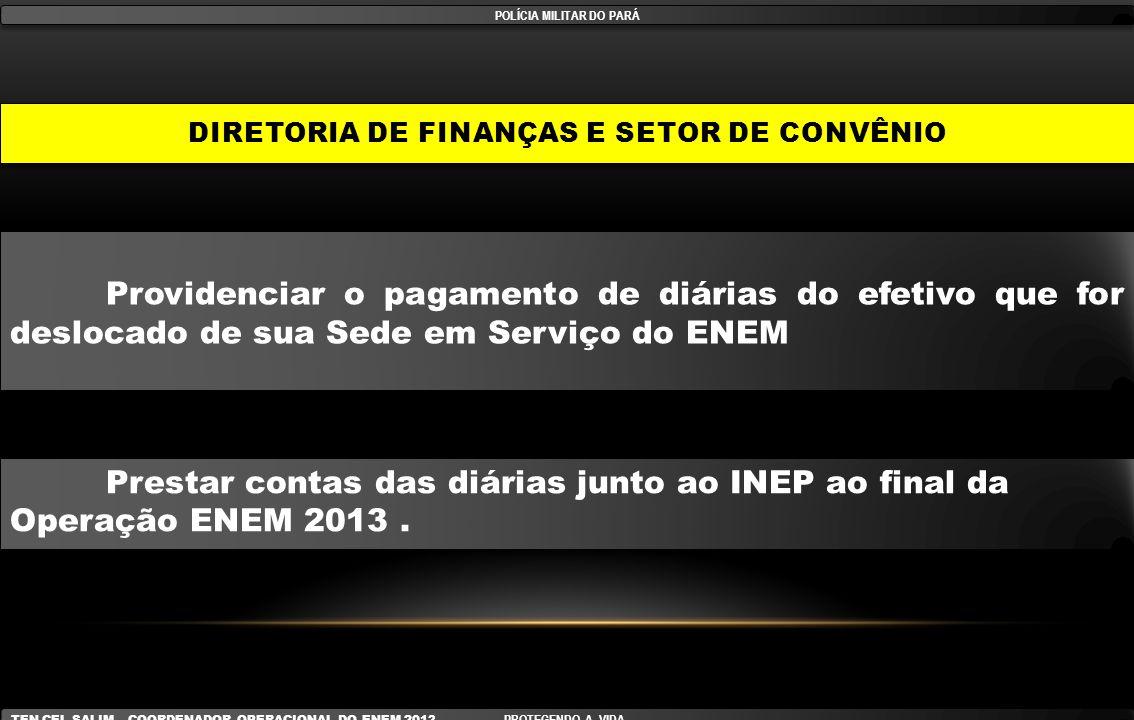 DIRETORIA DE FINANÇAS E SETOR DE CONVÊNIO