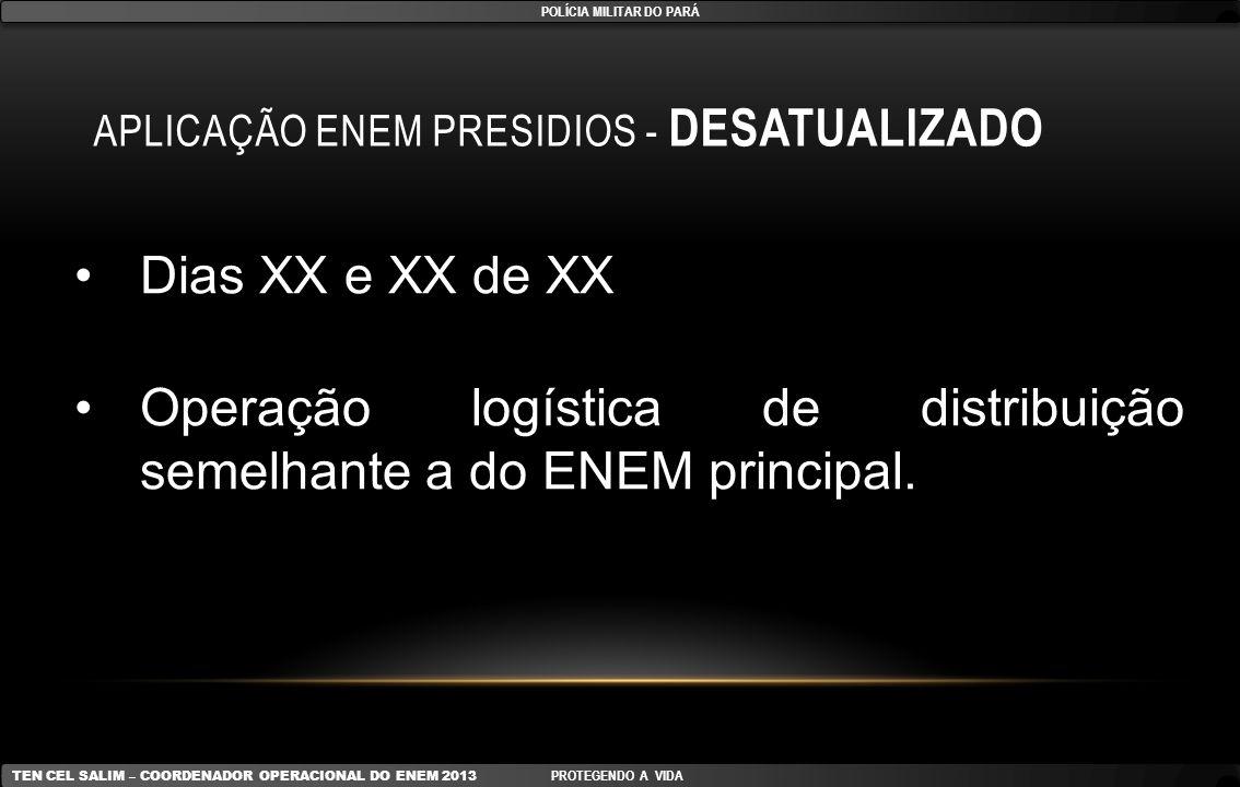 Aplicação ENEM Presidios - DESATUALIZADO