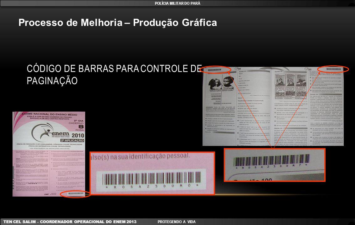 Código de Barras para controle de paginação