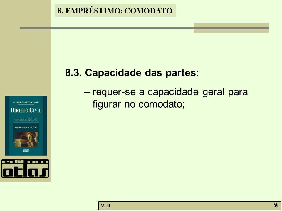 8.3. Capacidade das partes: