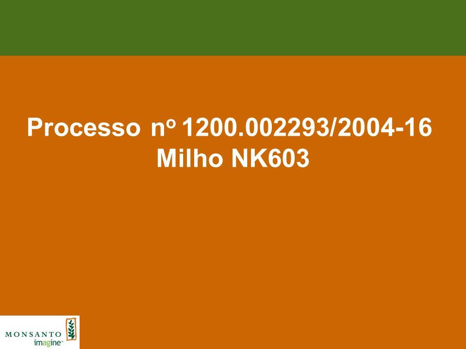 Processo no 1200.002293/2004-16 Milho NK603