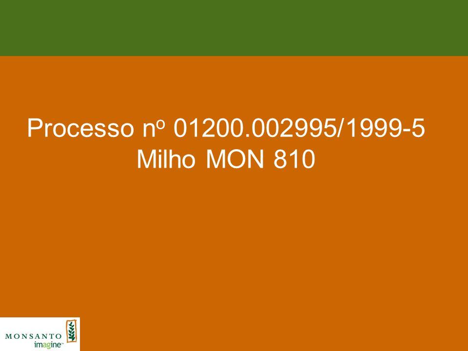 Processo no 01200.002995/1999-5 Milho MON 810