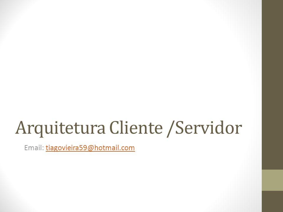 Arquitetura Cliente /Servidor