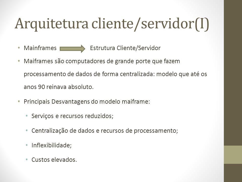 Arquitetura cliente/servidor(I)