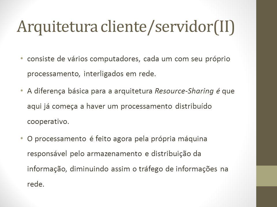 Arquitetura cliente/servidor(II)