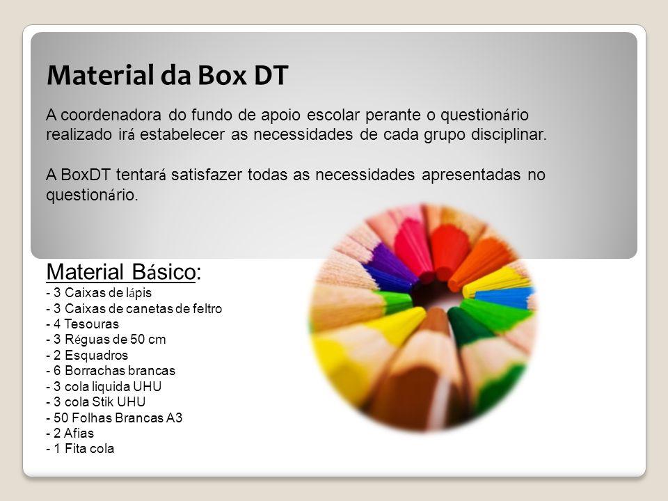 Material da Box DT Material Básico:
