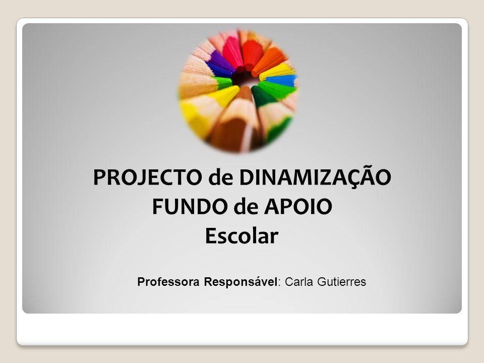 PROJECTO de DINAMIZAÇÃO FUNDO de APOIO Escolar