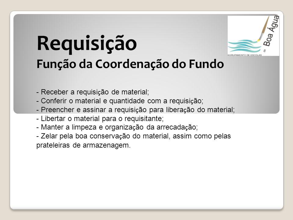 Requisição Função da Coordenação do Fundo