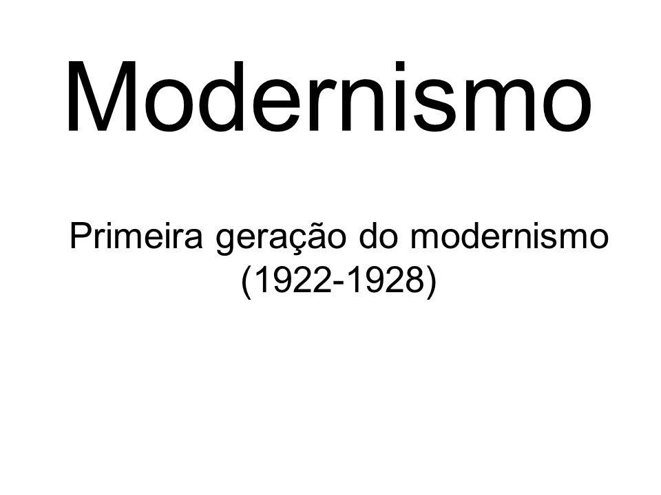 Primeira geração do modernismo (1922-1928)