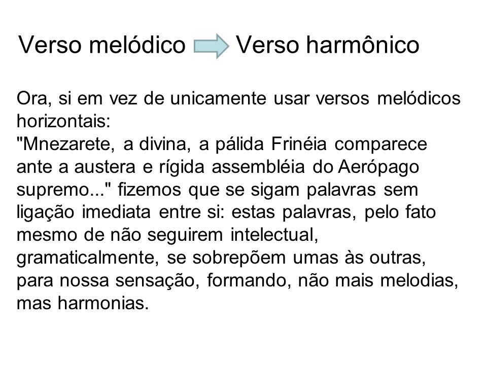 Verso melódico Verso harmônico