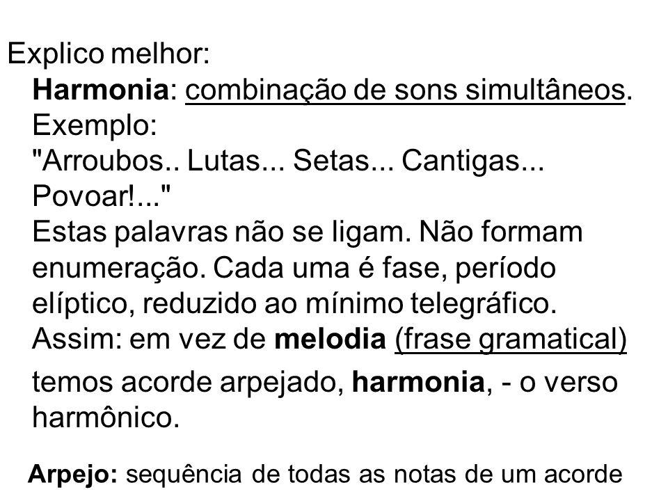 Explico melhor: Harmonia: combinação de sons simultâneos