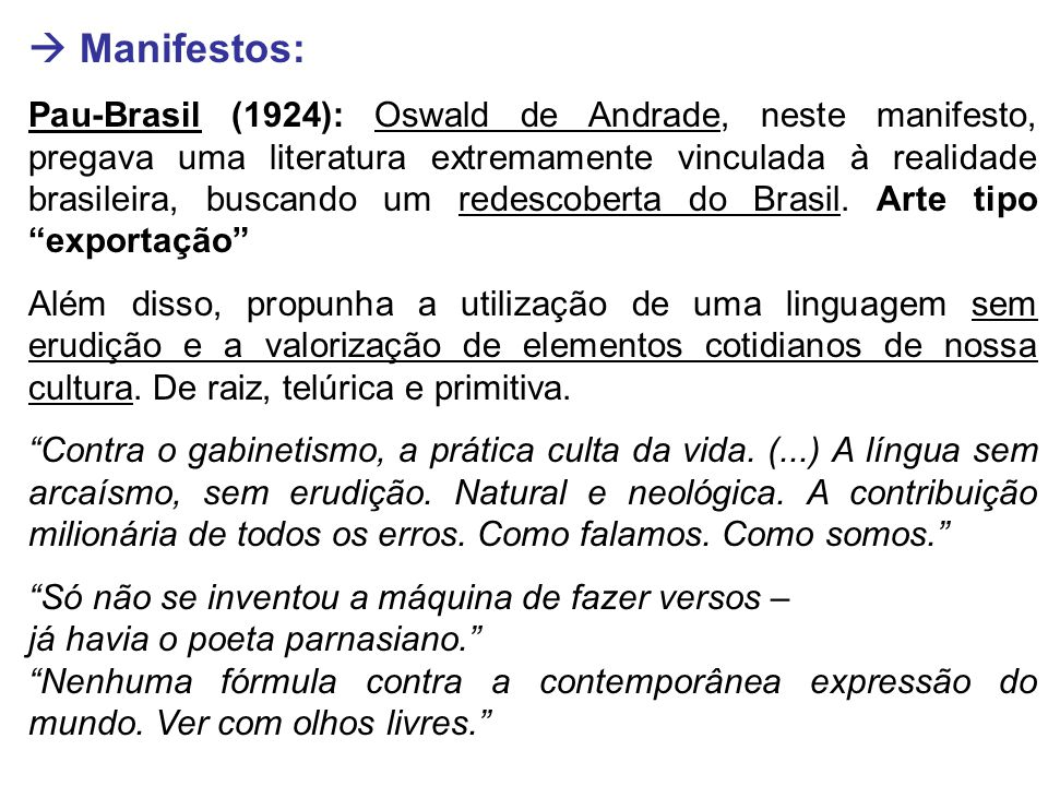  Manifestos: