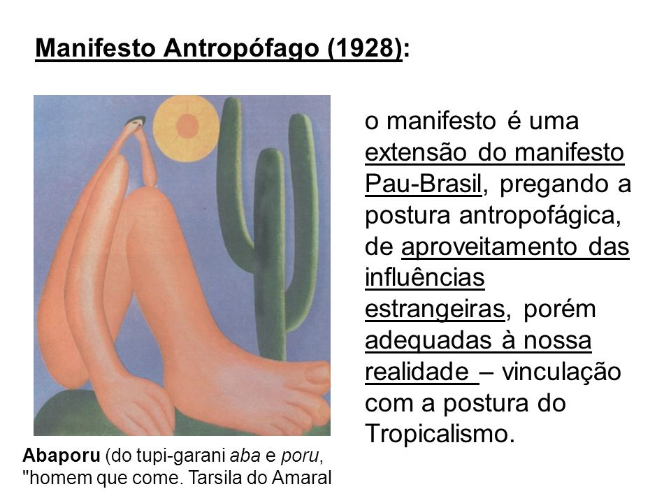 Manifesto Antropófago (1928):