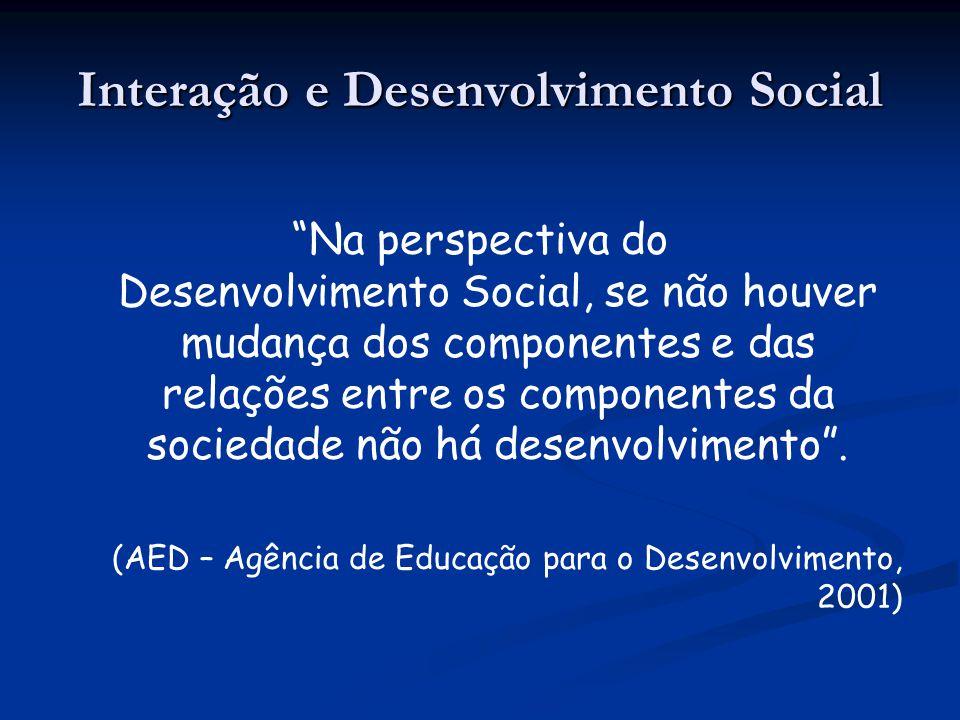 Interação e Desenvolvimento Social