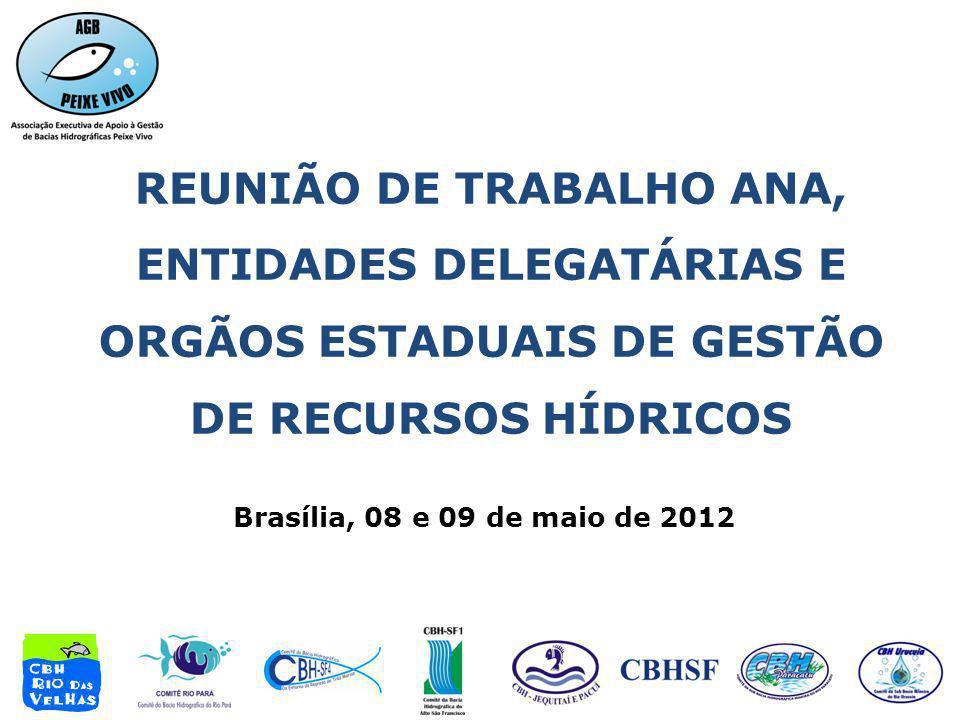REUNIÃO DE TRABALHO ANA, ENTIDADES DELEGATÁRIAS E ORGÃOS ESTADUAIS DE GESTÃO DE RECURSOS HÍDRICOS