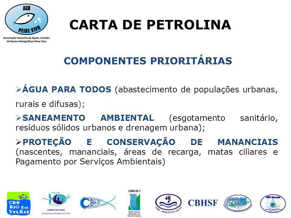 COMPONENTES PRIORITÁRIAS