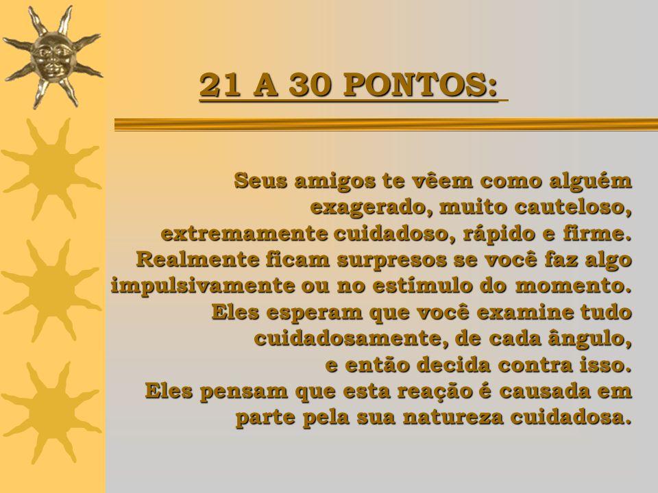 21 A 30 PONTOS: