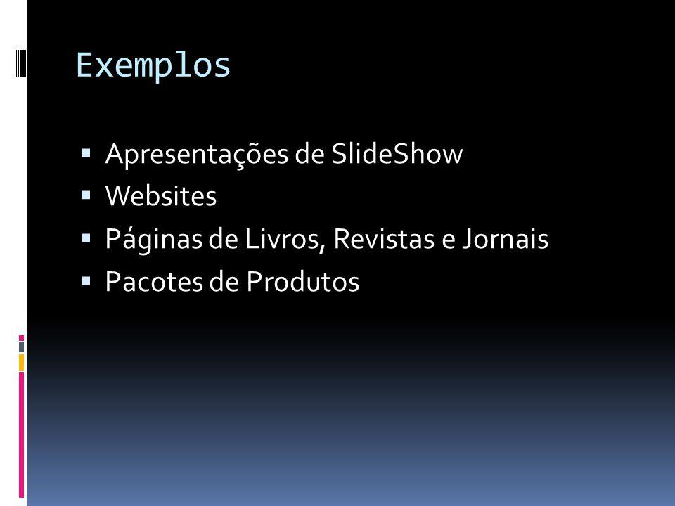 Exemplos Apresentações de SlideShow Websites