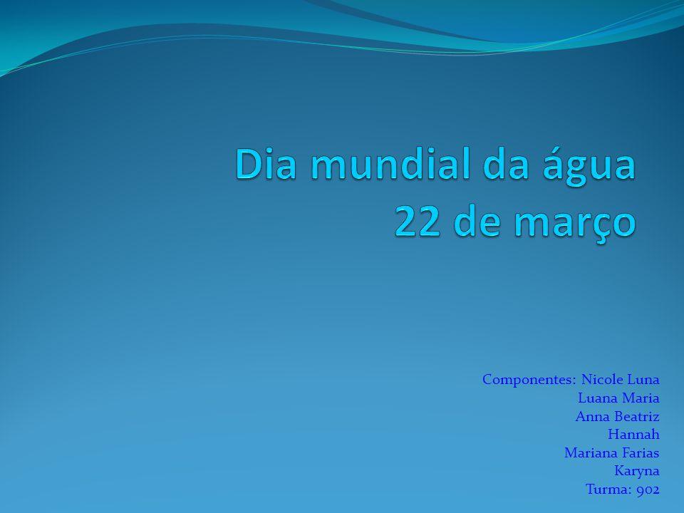 Dia mundial da água 22 de março