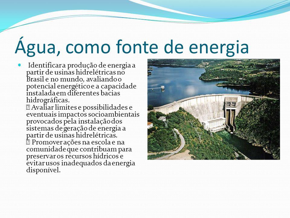 Água, como fonte de energia