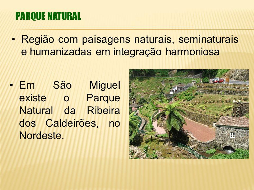 PARQUE NATURAL Região com paisagens naturais, seminaturais e humanizadas em integração harmoniosa.