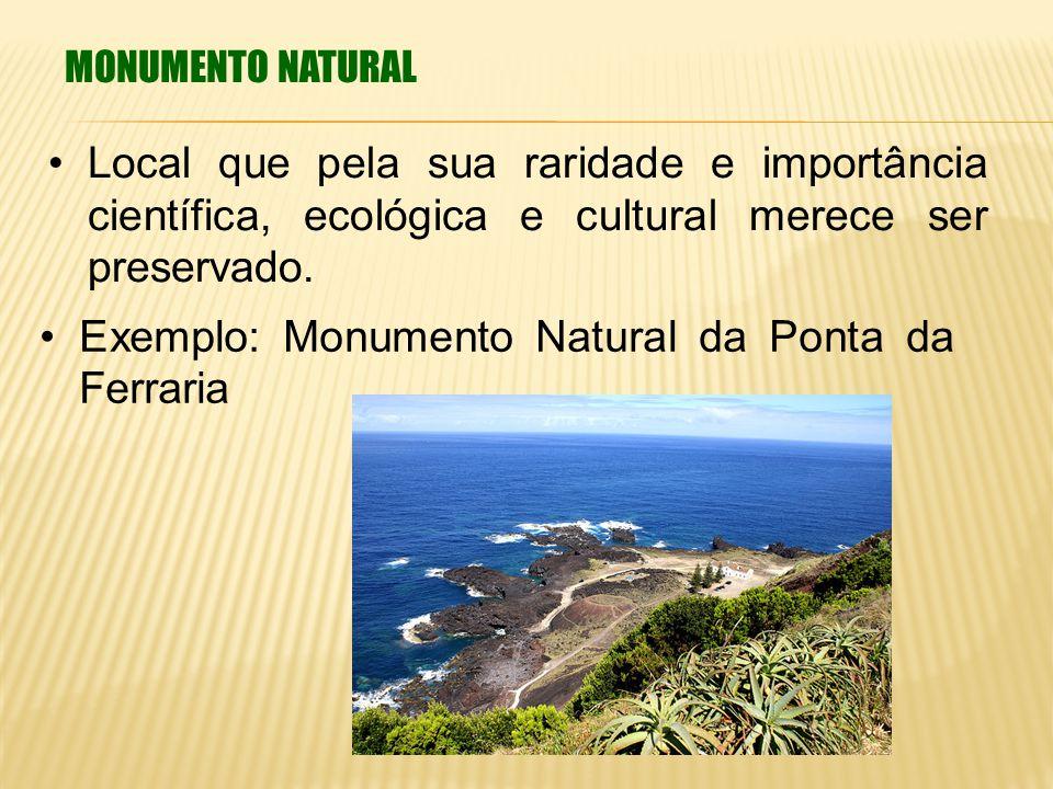 Exemplo: Monumento Natural da Ponta da Ferraria