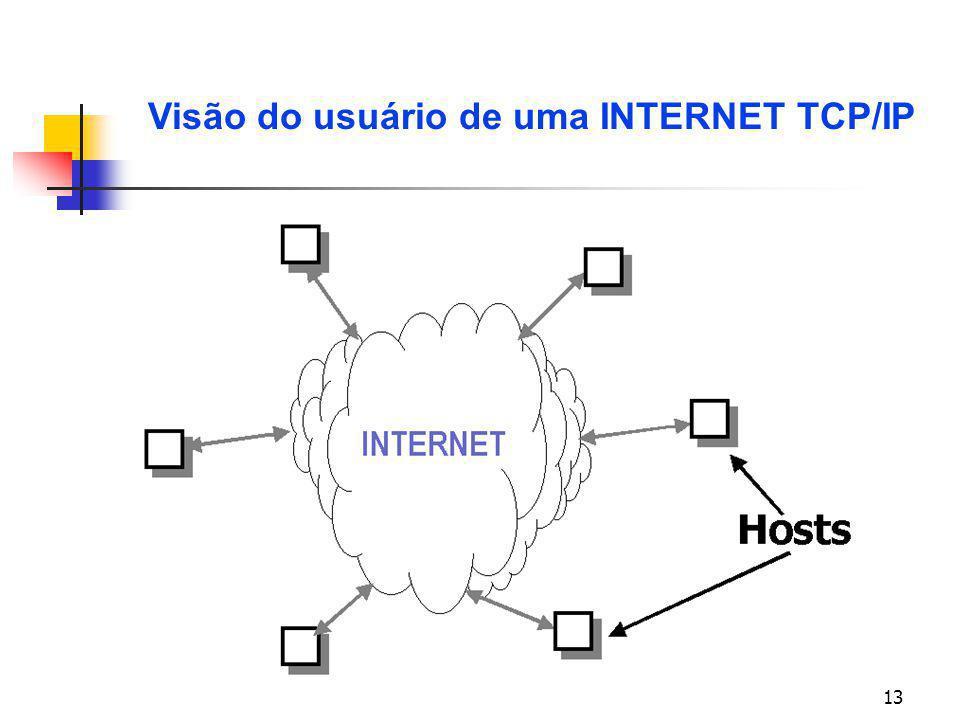 Visão do usuário de uma INTERNET TCP/IP
