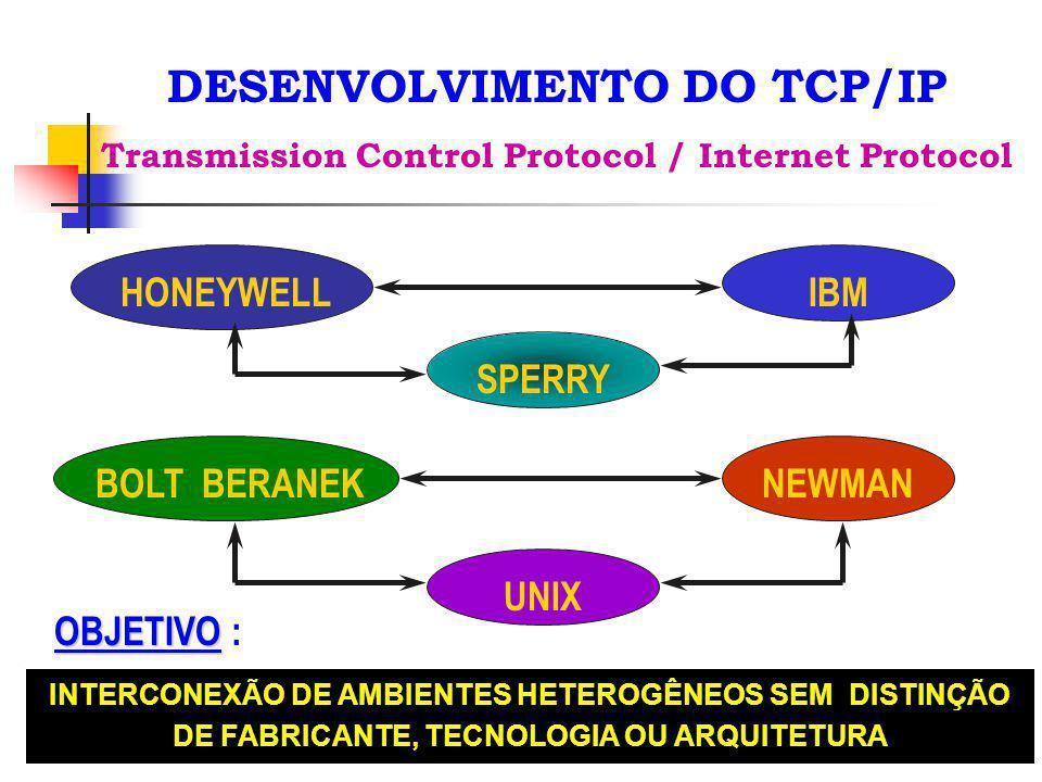 DESENVOLVIMENTO DO TCP/IP