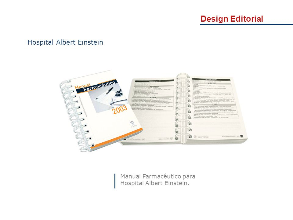 Design Editorial Hospital Albert Einstein Manual Farmacêutico para