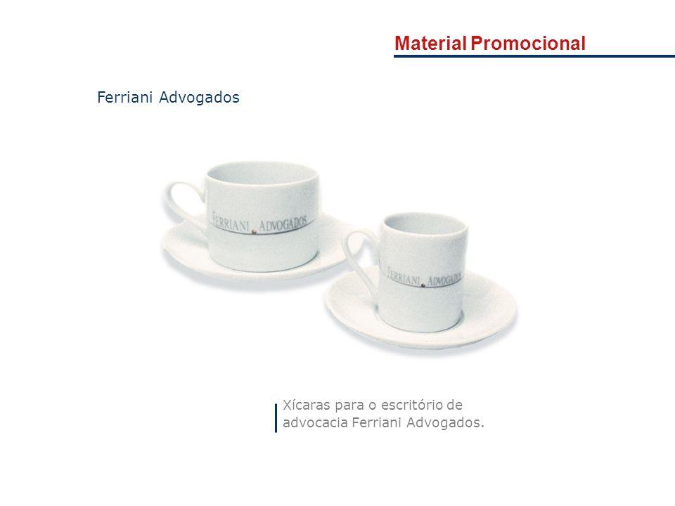 Material Promocional Ferriani Advogados Xícaras para o escritório de