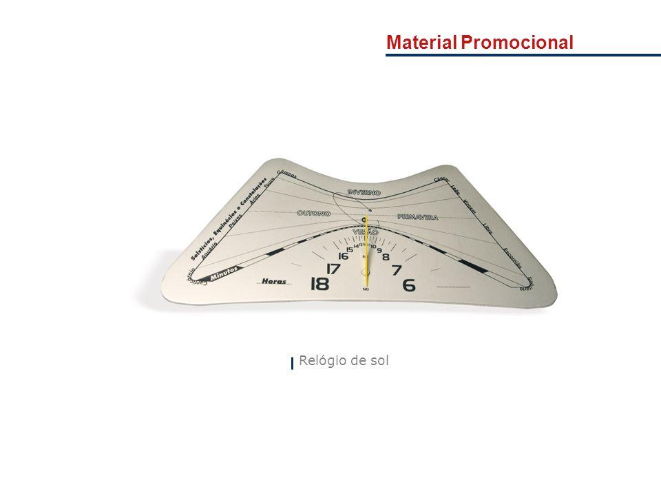 Material Promocional Apresentação da Empresa. Relógio de sol