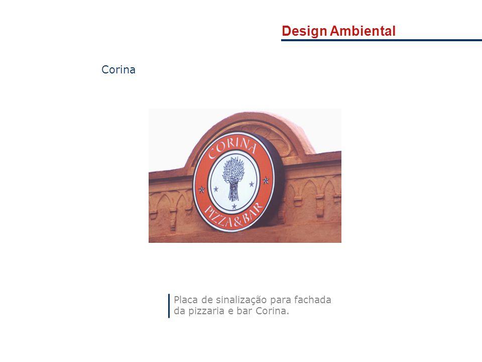 Design Ambiental Corina Placa de sinalização para fachada