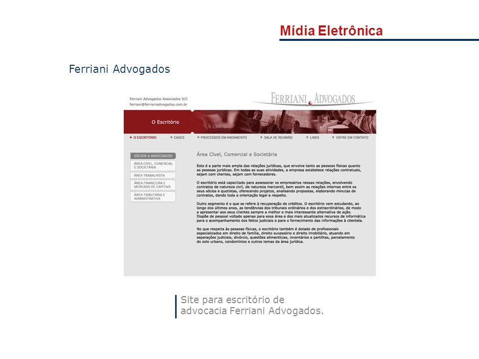 Mídia Eletrônica Ferriani Advogados Site para escritório de