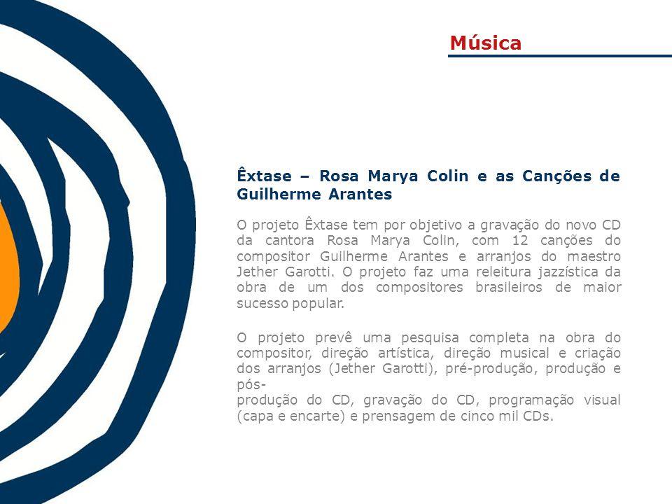 Música Êxtase – Rosa Marya Colin e as Canções de Guilherme Arantes