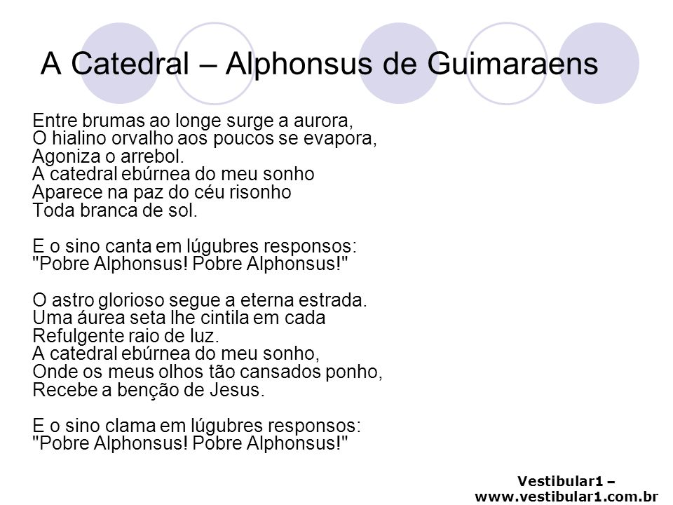 A Catedral – Alphonsus de Guimaraens