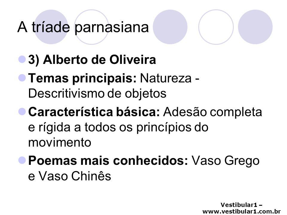 A tríade parnasiana 3) Alberto de Oliveira
