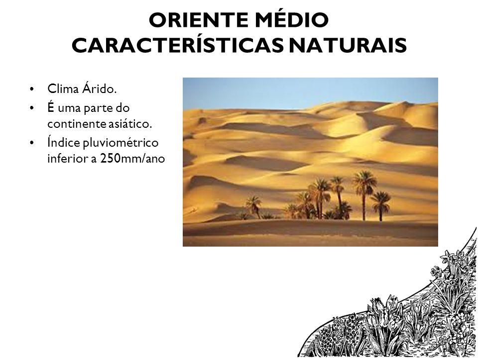 ORIENTE MÉDIO CARACTERÍSTICAS NATURAIS