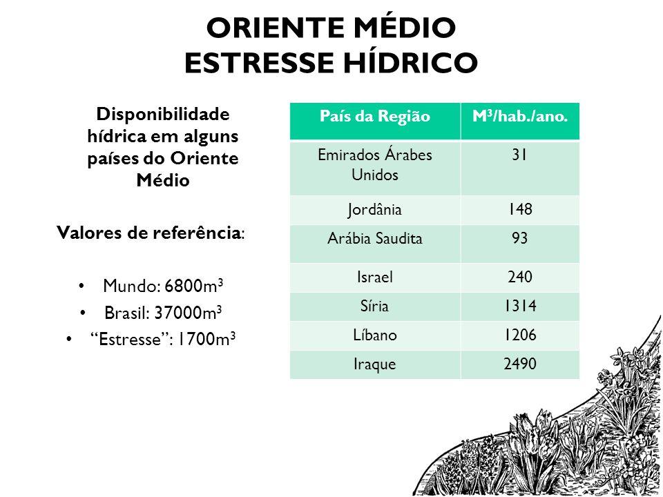 ORIENTE MÉDIO ESTRESSE HÍDRICO