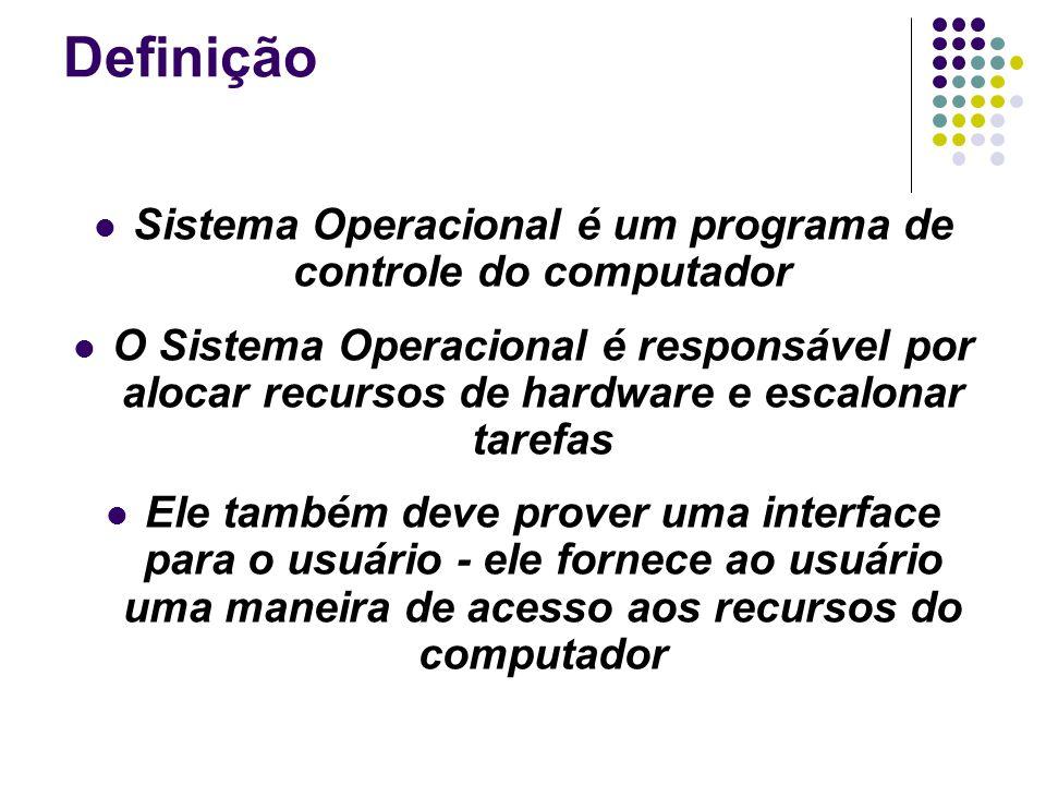 Sistema Operacional é um programa de controle do computador
