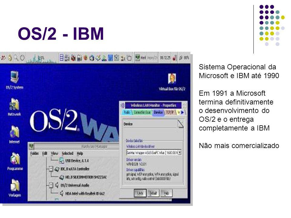 OS/2 - IBM Sistema Operacional da Microsoft e IBM até 1990