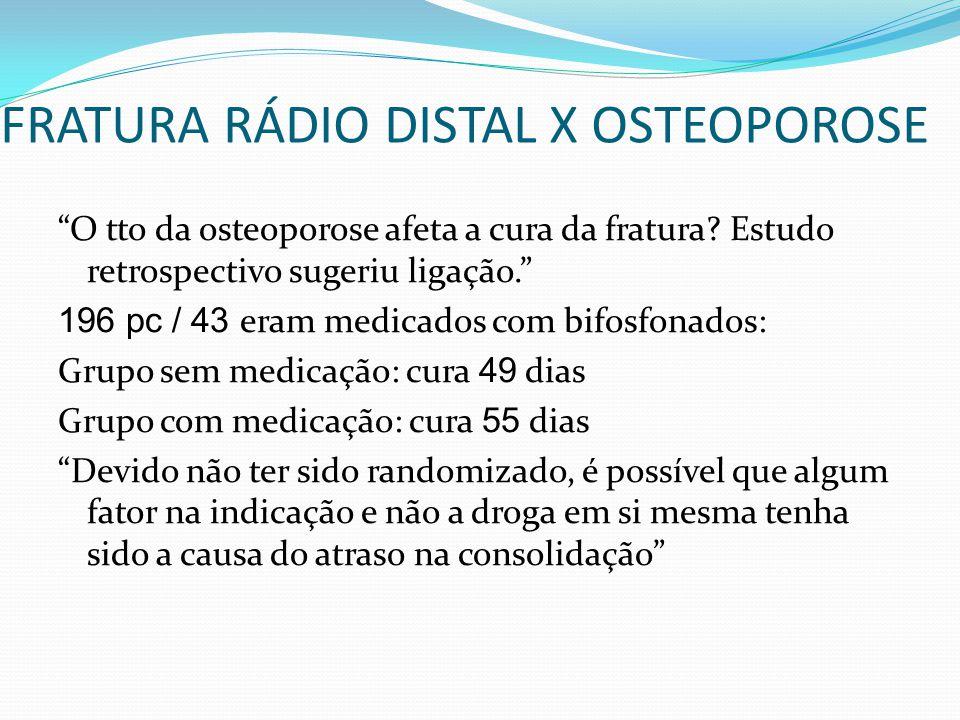 FRATURA RÁDIO DISTAL X OSTEOPOROSE