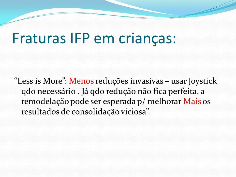 Fraturas IFP em crianças: