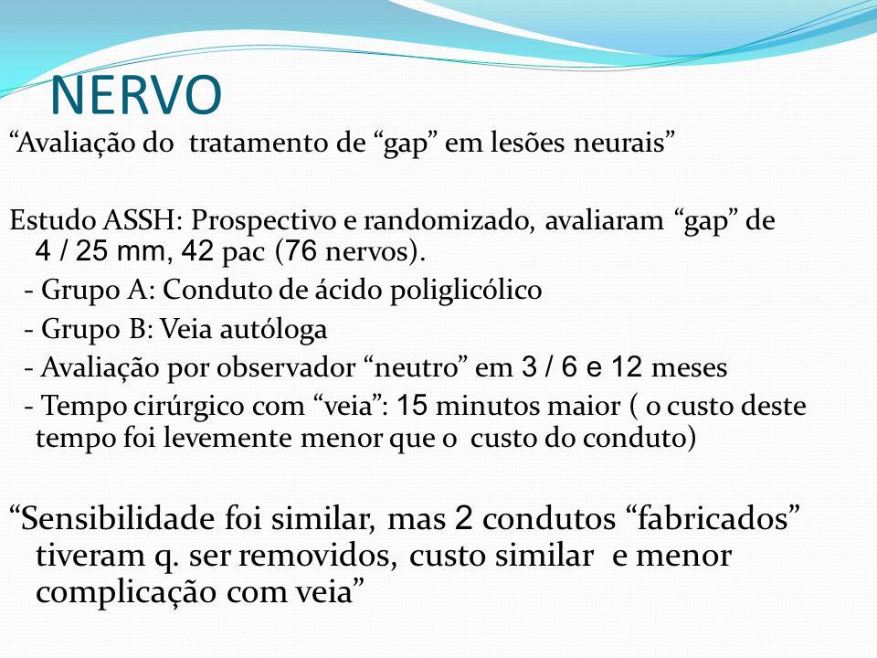 NERVO Avaliação do tratamento de gap em lesões neurais