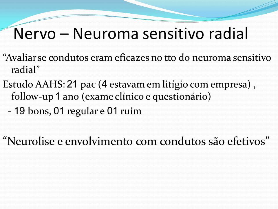 Nervo – Neuroma sensitivo radial