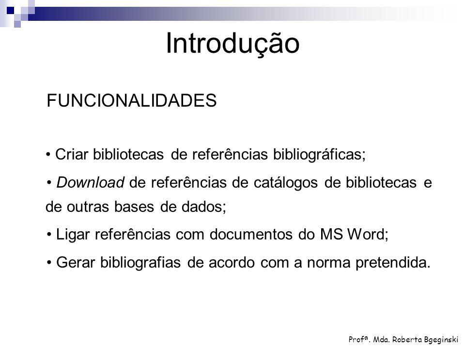 Introdução FUNCIONALIDADES