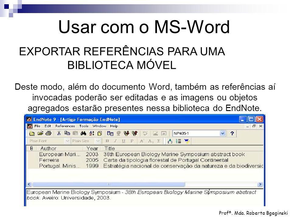 EXPORTAR REFERÊNCIAS PARA UMA BIBLIOTECA MÓVEL