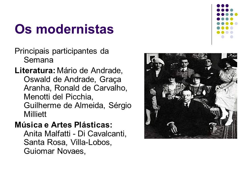 Os modernistas Principais participantes da Semana